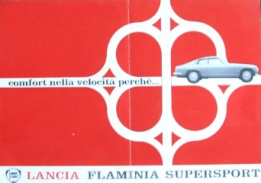 Lancia Flamina Supersport 1965 Automobilprospekt (7083)