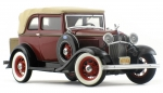 Franklin Mint Ford Convertible Sedan Bonnie & Clyde 1932 Metallmodell (0371)