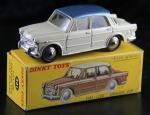 Dinky France Fiat 1200 Grande Vue 1958 Metallmodell in Originalbox (1414)