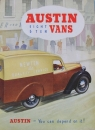 "Austin Eight-Ten Vans ""You can depend on it"" 1939 Lastwagenprospekt (4099)"