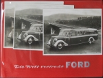 Ford V8 Harmening Panoramabus 1950 Ford-Angebotsmappe mit 3 Werksphotos (5760)