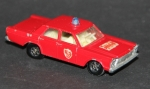 "Matchbox Lesney Ford Galaxie ""Fire Chief"" 1967 Metall (6608)"