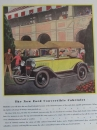 Ford Model A Convertible Cabriolet 1930 Werbeanzeige (1291)
