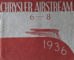 Chrysler Airstream 6-8 Automobilprospekt 1936 (7729)