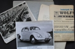"Volkswagen Pressemappe ""1 Million VW"" August 1955 mit Fotos + Pressetext (9963)"